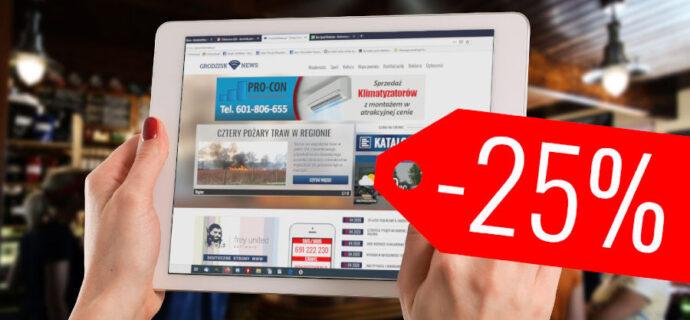 25 % rabatu. Obniżamy ceny reklam dla lokalnych przedsiębiorców - Grodzisk News
