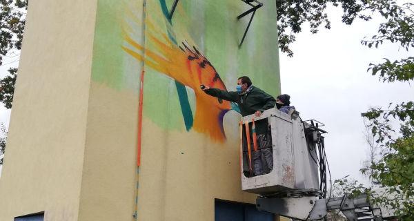 Kolejny mural powstaje w Grodzisku - Grodzisk News