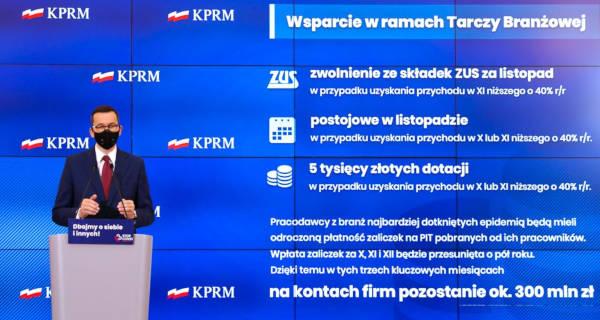 Morawiecki: Tarcza Branżowa dla firm, które ucierpiały na obostrzeniach - Grodzisk News