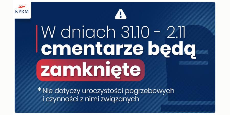W najbliższych dniach cmentarze zamknięte - Grodzisk News