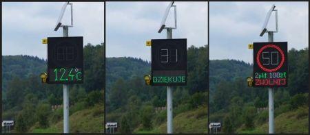 Radarowe wyświetlacze prędkości na drogach w regionie - Grodzisk News