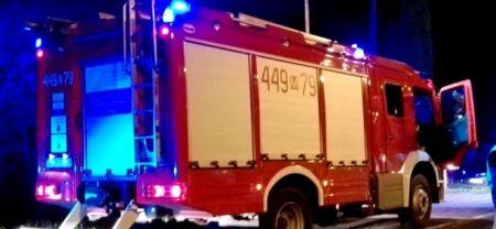 Wieczorny pożar w Kozerkach - Grodzisk News