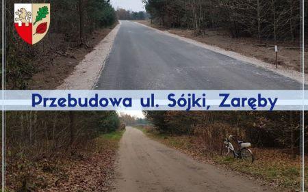 Ekspresowa przebudowa ul. Sójki zakończona - Grodzisk News