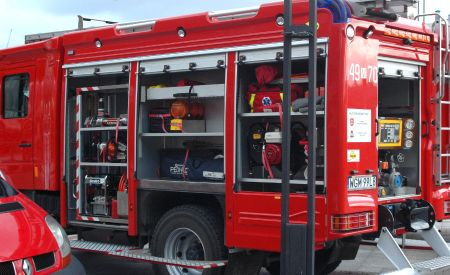Pożar w Jaktorowie. Spłonęła przyczepa kempingowa - Grodzisk News