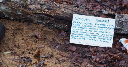 Szkło na ścieżkach w Lesie Młochowskim - Grodzisk News