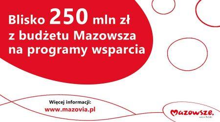 250 mln zł na programy wsparcia od samorządu Mazowsza - Grodzisk News