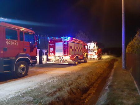 Wieczorny pożar w Odrano Woli - Grodzisk News