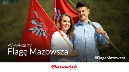 Flaga Mazowsza dla wszystkich - Grodzisk News