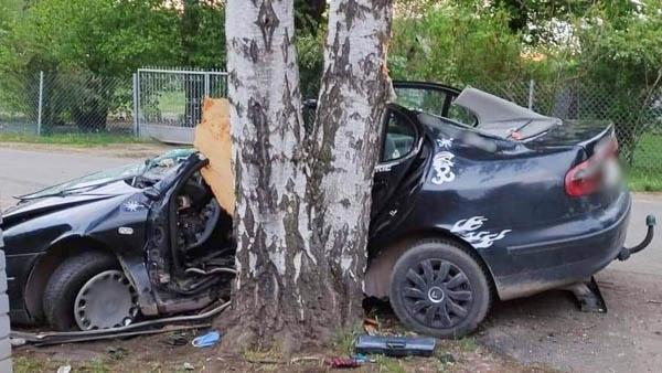 Makówka. Seat uderzył w drzewo, dwie osoby w szpitalu - Grodzisk News