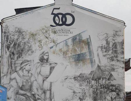 Urodzinowy mural odsłonięty w Grodzisku [FOTO] - Grodzisk News