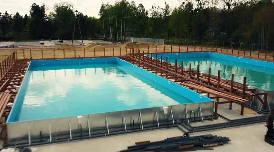 Zobacz jak idzie budowa basenów [FILM] - Grodzisk News