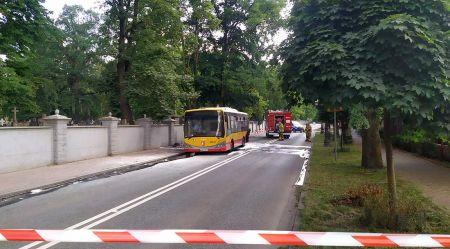 """Pożar autobusu w Grodzisku. """"Zapalił się podczas jazdy"""" - Grodzisk News"""
