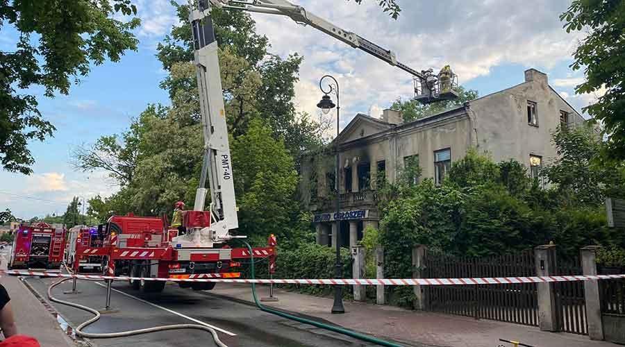 Pożar na Kościuszki. Utrudnienia w ruchu - Grodzisk News