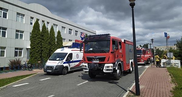 Pożar w Szpitalu Zachodnim. Cztery zastępy w akcji [FOTO] - Grodzisk News