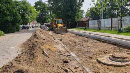 Wznowiono przebudowę ul. Krakowskiej w Milanówku [FOTO] - Grodzisk News