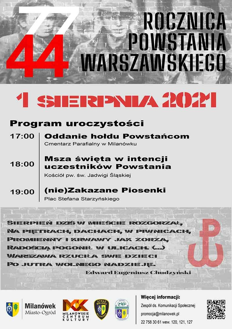 77. rocznica wybuchu Powstania Warszawskiego - Grodzisk News