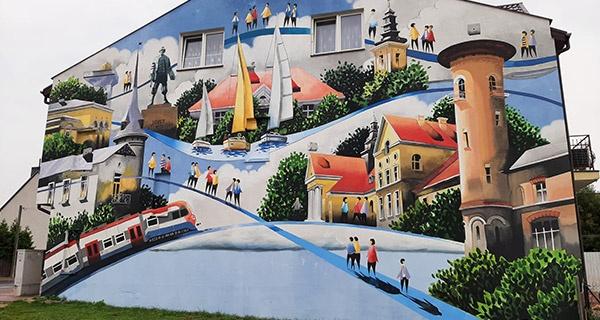 Mural Tytusa Brzozowskiego w Grodzisku już gotowy [FOTO] - Grodzisk News