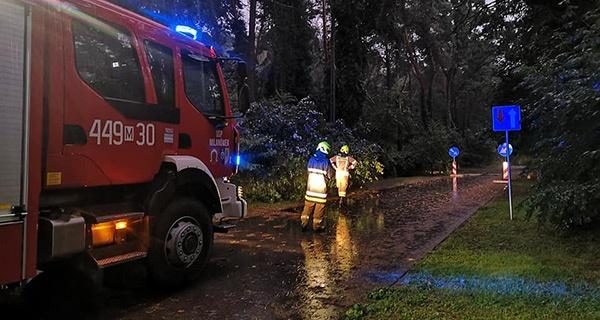 Nawałnice nad regionem, przeszło 20 interwencji straży [FOTO] - Grodzisk News