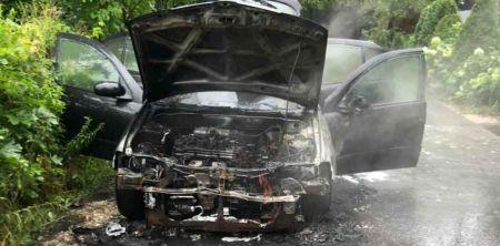 Poranny pożar auta - Grodzisk News