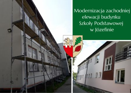 Remontują elewację szkoły w Józefinie - Grodzisk News