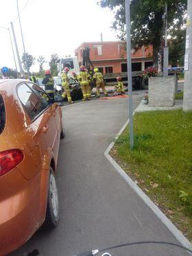 Wypadek w Szczęsnem. Dwie osoby w szpitalu - Grodzisk News