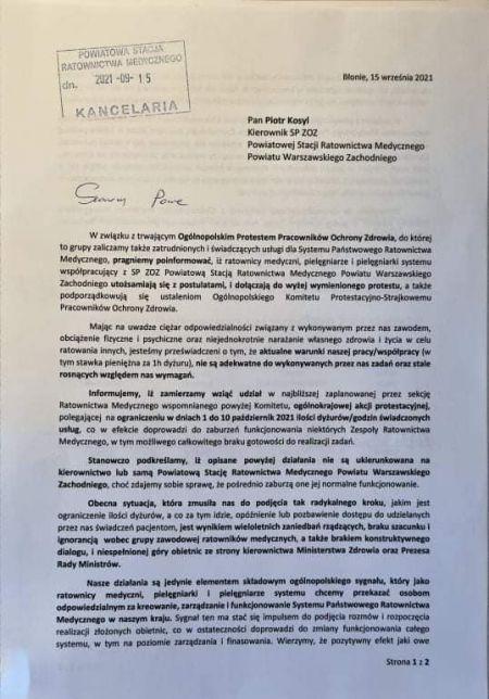 Ratownicy medyczni z powiatu grożą strajkiem. Karetki nie wyjadą do pacjentów? - Grodzisk News