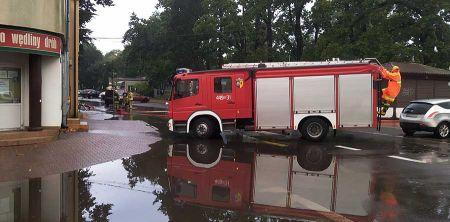 Ulewa nad powiatem. Strażacy interweniowali [FOTO] - Grodzisk News