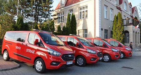 Cztery nowe samochody dla brwinowskiej OSP [FOTO] - Grodzisk News