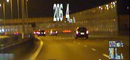 Jechał ponad 200 km/h, stracił prawo jazdy