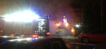 Nocny pożar w Grodzisku