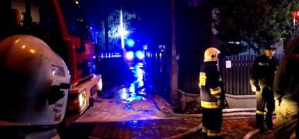 Pożar budynku w Milanówku