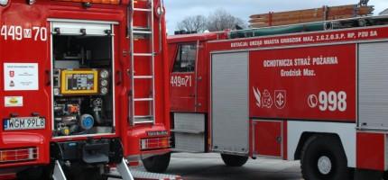 Pożar domu w Jaktorowie. Jedna osoba ranna