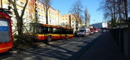 Zderzenie dwóch autobusów w Grodzisku