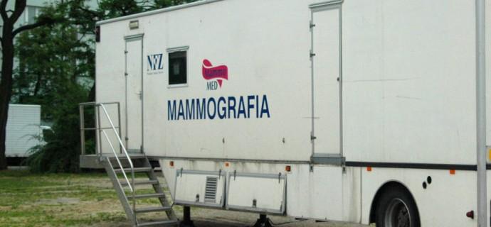 Pięć wizyt mammobusów w nadchodzącym tygodniu