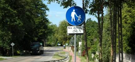 Stawiają znaki sprzyjające rowerzystom