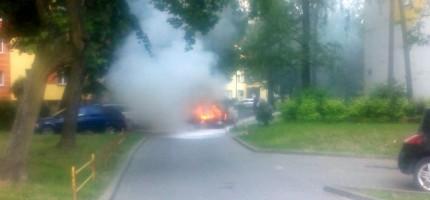 Pożar samochodu na Sienkiewicza