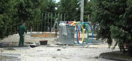 Budowa wodnego placu zgodnie z planem