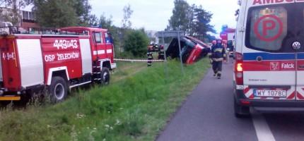 Polski Bus wylądował w rowie