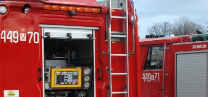 Pożar auta na trasie katowickiej