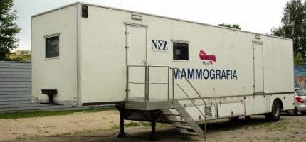 Wizyty mammobusa w poniedziałek i wtorek