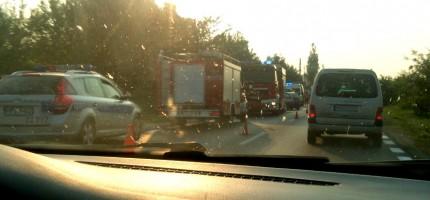 Wypadek na trasie 719. Są utrudnienia