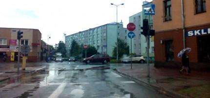 Niedziałające światła na skrzyżowaniu Sienkiewicza i Montwiłła