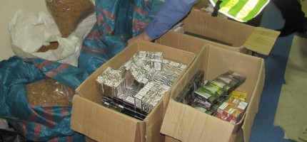 Prawie 3 tys. paczek nielegalnych papierosów na grodziskiej posesji