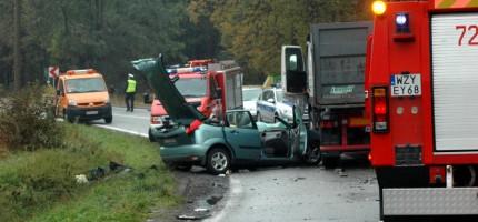 Śmiertelny wypadek pod Kuklówką. Czołowe zderzenie