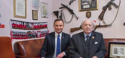 Prezydent z wizytą u Powstańca w Milanówku