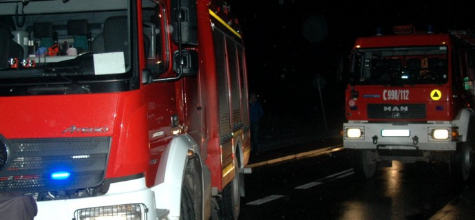 Pożar sauny w Międzyborowie, cztery zastępy w akcji