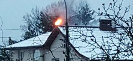 Pożar sadzy w Milanówku