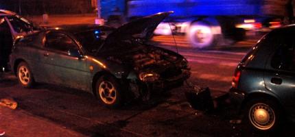 Wypadek w centrum Grodziska, są poszkodowani