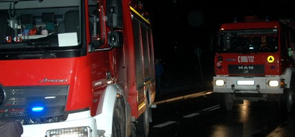 Nocny pożar w Podkowie