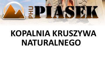 PHU Piasek – Kopalnia kruszywa naturalnego
